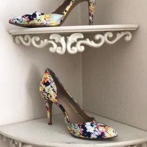 Vince Camuto floral heels
